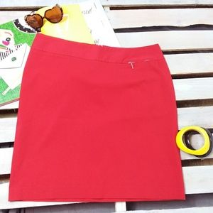 Lane Bryant Pencil Skirt Career Wear Red